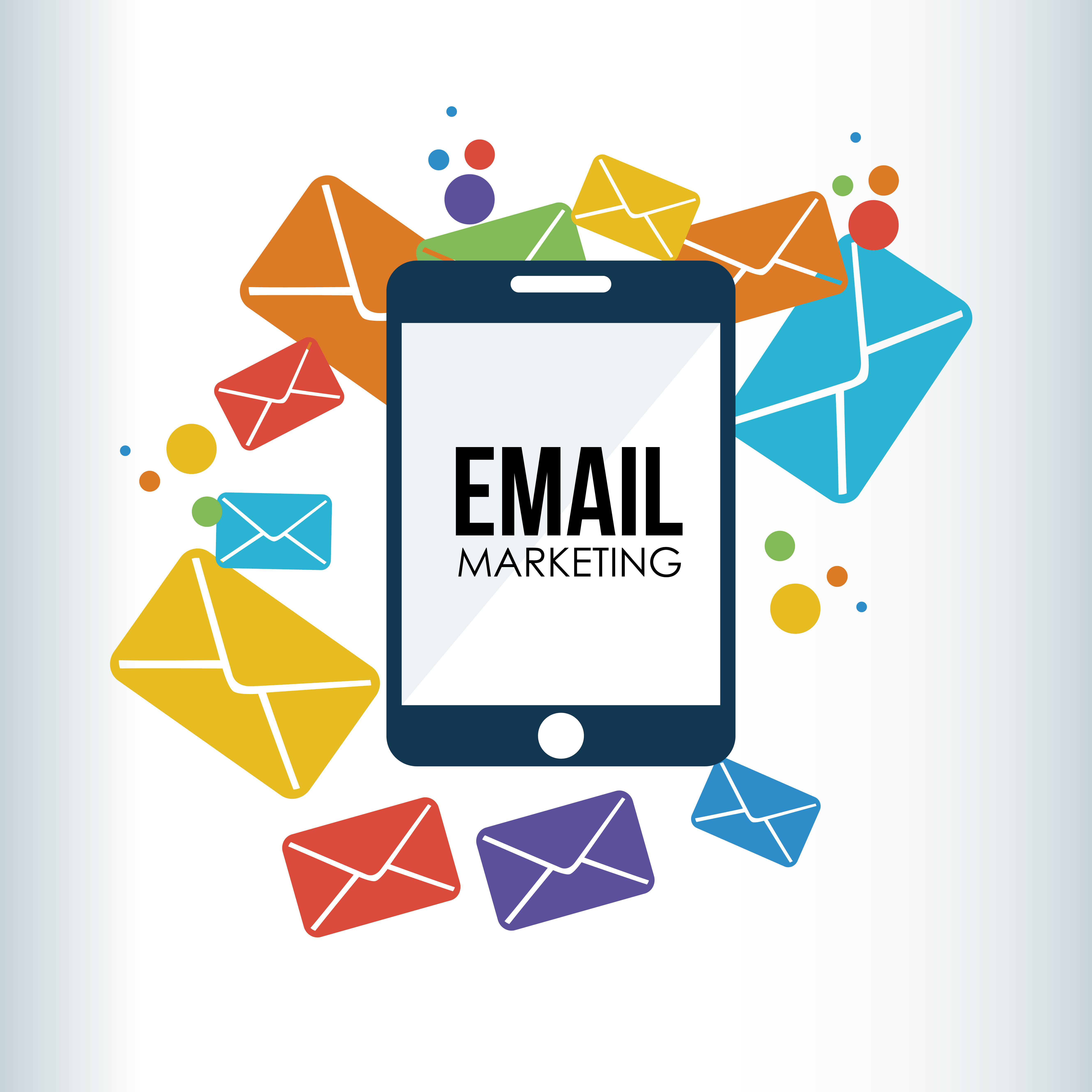 marketing email graphic sms service solutions social